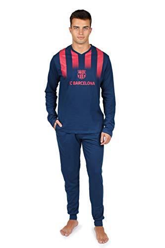 FC Barcelona - Pijama Manga Larga F.C.Barcelona - Azul, L