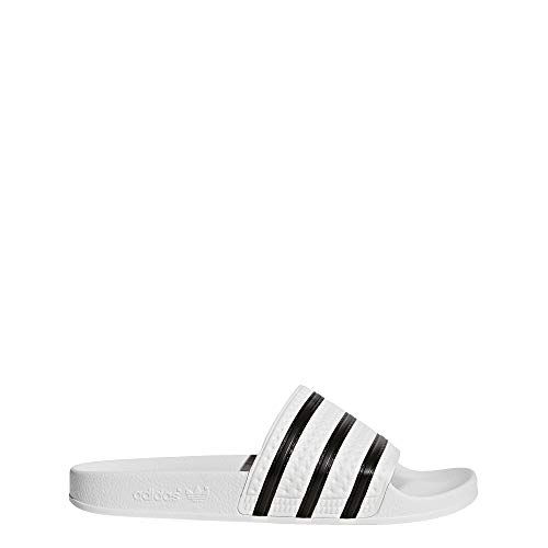 adidas Men's Adilette Sport Slide,White/Black,7 D(M) US