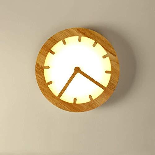 MJY Lampe en bois créatif Lampe en bois nordique allumant une décoration de séjour massive