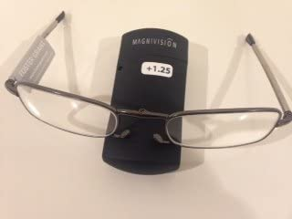 popular Magnivision or Foster Grant - The Gideon Folding online sale Reader Glasses +1.25 2021 Power online sale