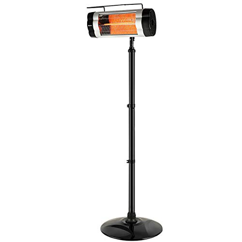 Buy Discount simplyUSAhello 1500W Electric Patio Infrared Heater Freestanding Heater