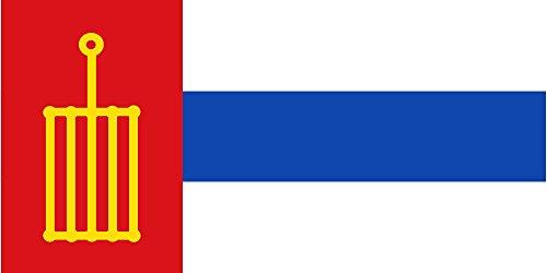 magFlags Bandera Large Tercia al batiente Triple | Bandera Paisaje | 1.35m² | 80x160cm
