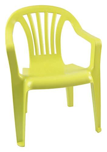 Pro Garden Kinderstühle Stapelstühle Kinderstuhl Kindersessel Stuhl Kindermöbel Gartenstuhl, Farbe:hellgrün