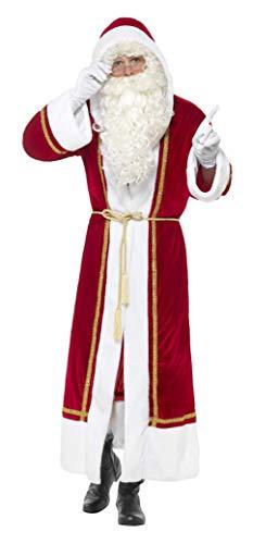 Smiffys, Heren Deluxe Kerstman omhang met riem, rood