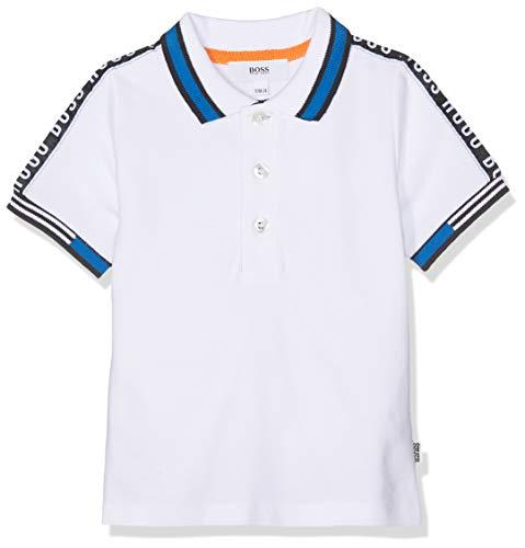 BOSS Polo Manches Courtes, Blanco (Blanc 10b), 12-18 Meses (Talla del Fabricante: 12M) para Bebés