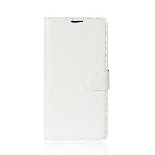 ROCKWEY Für Oukitel K5 Hülle, Mobile Phone Flip Wallet Leather Hülle Flip Hülle für Oukitel K5-weiß