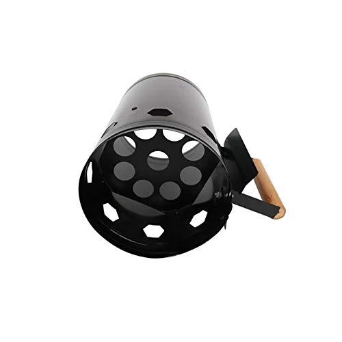YRDZ Accesorios de Barbacoa Barril de Encendido de carbón de Encendido Durable Estufa de Carbono Barbacoa al Aire Libre con Mango de Madera Fire Start Barrel fácil de Usar Parrilla de Gas