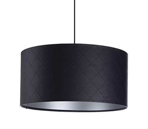BPS Koncept Glamour E27 Mokai - Lámpara de techo colgante (40 cm de diámetro), diseño de lunares, color negro