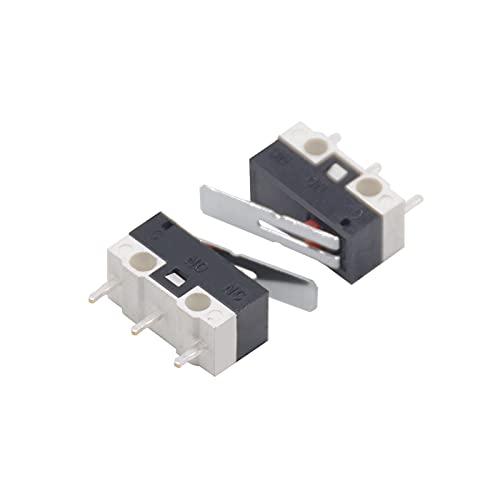 XIAOZSM Interruptores 100pcs KW-1 1A Micro límite de Palanca pequeña Interruptor Car