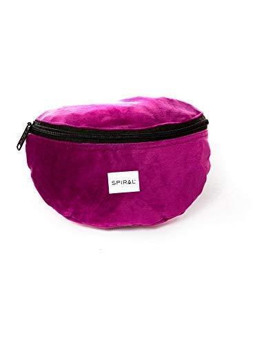 Spiral Mulberry Velvet Bum Bag Sac Banane Sport 23 Centimeters 2 Violet (Purple)