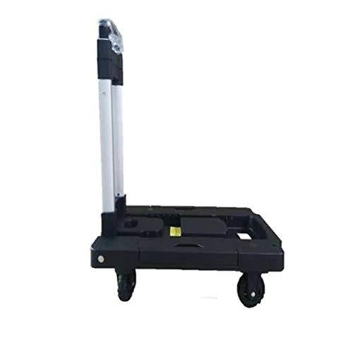 Wonepic Trolley Kleine Handwagen Flach Trolley Car Klappbaren Tragbaren Gepäckwagen Einkaufs Grocery Werkzeugwagen Für Home Shopping Black