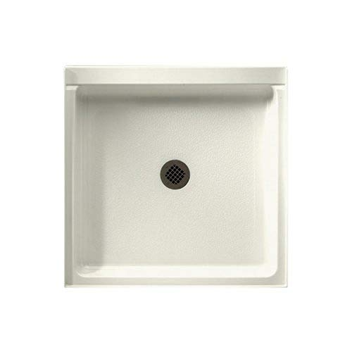 Swanstone R-3636-018 Veritek Center Drain Shower Base, 36-in L X 36-in H X 5.5-in H, Bisque