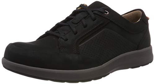 Clarks Un Trail Form, Zapatos de Cordones Derby, Negro (Black Nubuck-), 43 EU