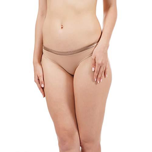 Amante Satin Edge Bikini Panty Nude Large