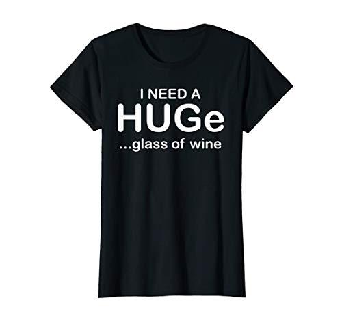 Damen HUGe glass of wine I Wein Weinglas Umarmung Alkohol