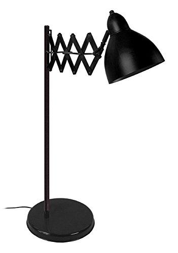 Preisvergleich Produktbild Tosel 90075 Mundharmonika Schreibtischlampe Blech Stahl / Malerei Epoxid 330 x 600 mm,  schwarz