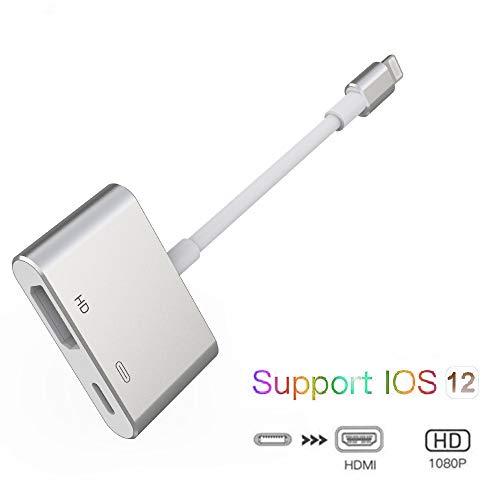 SwiftLand HDMI Adapter für Phone, 1080P Digital AV Adapter HDTV Sync Screen HDMI Anschluss für Phone 11/11 Pro/11 Pro MAX/XR/XS/8/8 Plus/ 7/6/5s/5c/5/se, Pad (Kompatibel mit IOS 13)