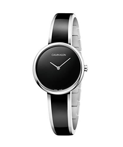 Calvin Klein Reloj Analógico-Digital para Mujer de Cuarzo con Correa en Acero Inoxidable K4E2N111