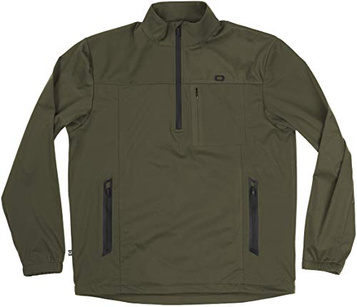 OGIO All Elements Stretch 1/4-zip Jacket, Olive, Small