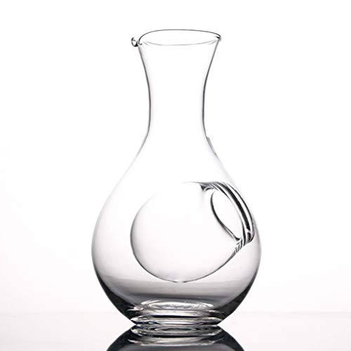 YWSZJ Creative Glass Botella de Vino Thumb Hole Sake Vidrio Hielo Jug Hamster Nest Room Room Voulters Decanter Set