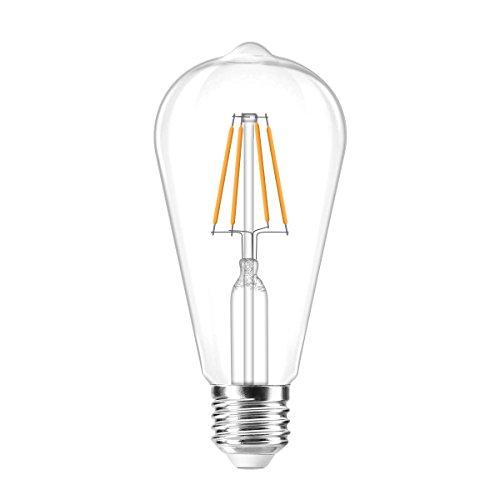 Vintage Glühbirne, LED-Leuchtmittel, warm weiß 4 W, 220 V Vintage Classic Style Edison Lichtern E27 Schrauben ST64 Glühlampe, geeignet für Weihnachten Family Reunion, Kaffee, Bar Dekoration