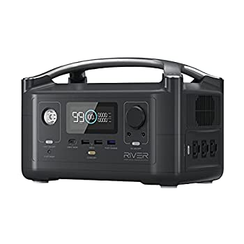 EF ECOFLOW Portable Power Station RIVER 288Wh Backup Lithium Battery with 3 600W  Peak 1200W  AC Outlets & LED Flashlight Clean & Silent Solar Generator for Outdoor Camping RV Emergencies Home