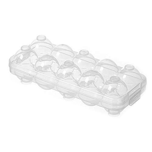 Shanji Fridge Egg Holder Freezer - Caja de almacenamiento de plástico