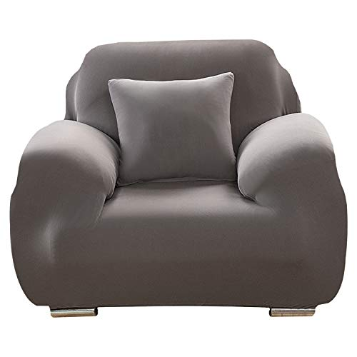 DWTECH Funda elástica para sofá Elasticas de 1 2 3 4 Plazas(Gratis 2 Funda de Cojines) Universal Funda Cubre Sofas Ajustables, Antideslizante Protector Cubierta de Muebles con Cuerda de fijación