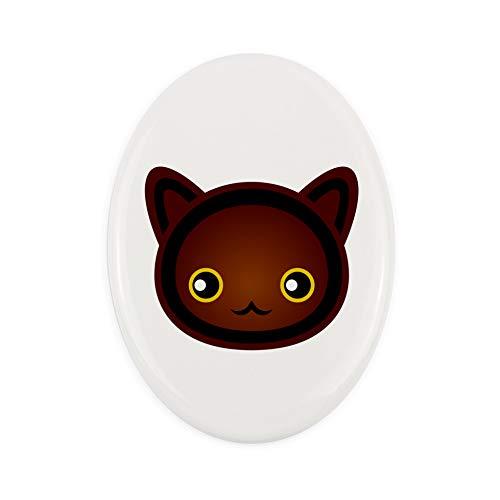 Placa Conmemorativa de cerámica Havana Brown Tombstone con un Gato – ArtDog