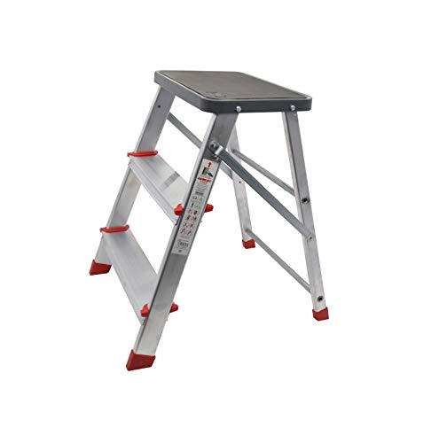 Escalerilla, Taburete o escalón Plegable de Aluminio de 3 peldaños