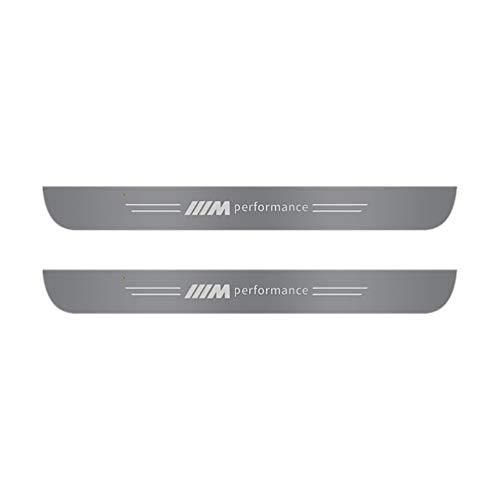 FLYWM 2/4 Piezas De AlféIzares De Puerta, para BMW 3 5 Series X1 X3 X4 X5 X6 Placas De ProteccióN para Pedales Coche,Barra Umbral Pedal Bienvenida con Led, Antideslizante, Tira ProteccióN Antirrayas