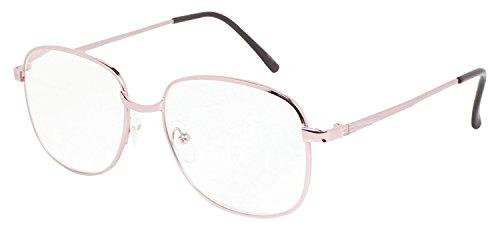 藤田光学 老眼鏡 遠近両用 レディース 2.5 度数 メタルフレーム ピンクゴールド 550P+2.50