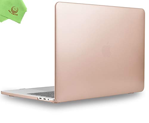 MacBook Pro 13 inch Case 2020 2019 2018 2017 2016 Release A2289 A2251 A2159 A1989 A1706 A1708, UESWILL Matte Hard Case for MacBook Pro 13 inch, 2/4 Thunderbolt 3 Ports (USB-C), Gold