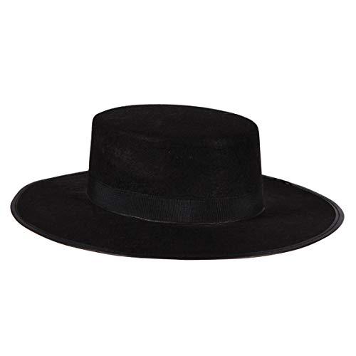 Thetru Rächer-Hut in schwarz | Einheitsgröße Erwachsene | Rächerhut für Karneval und Fasching