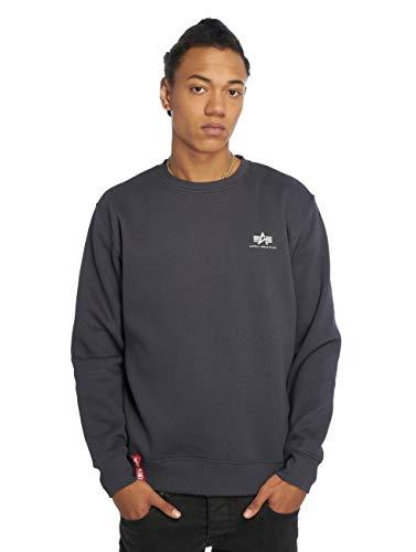 ALPHA INDUSTRIES Basic Sweater Small Logo Maglia di Tuta, Navy, S Uomo