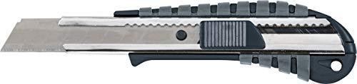 KWB Cuttermesser mit Abbrechklinge 18mm 015118 (Edelstahl Klingenführung, schweres Gehäuse mit gummierter und Rutschfester Grifffläche), 18 mm