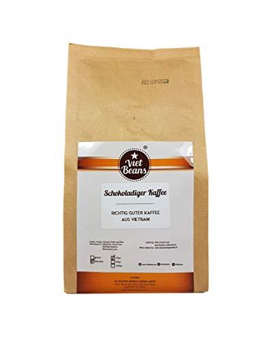 VietBeans - Schokoladiger Kaffee - Gemahlener Röstkaffee - Geröstet in Butter und Rum - Intensiver Schoko-Geschmack - Aroma: Schokolade - 250g