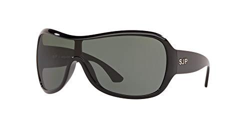 Sunglass Hut Collection Sunglasses Black Frame, Green Lenses, 34MM