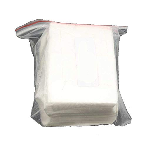 BEANS Brand Fillable Regular (small) Size Tea/Coffee Bags 5 X 6cm for those who prefer Non-Woven Mesh to filter paper, (bundle of 100), heat-seal closure with iron, curling iron, sealer