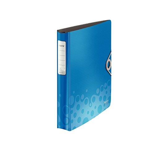 Leitz 42360037 Ringbuch Active Bebop, A4, PP, 4 Ringe, 30 mm, blau