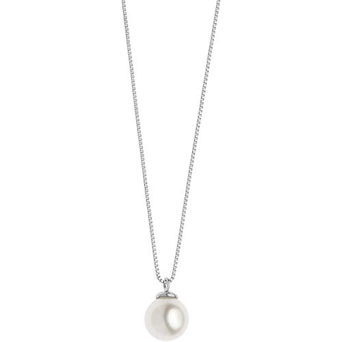 Collana Con Perla In Oro Bianco Di Comete Da Donna classico cod. GLP 561