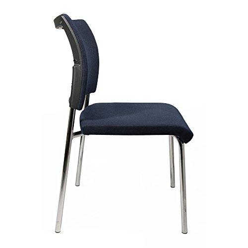 TOPSTAR Besucher-Stuhl Visit 10-Polster, in trendigem Design dunkelblau