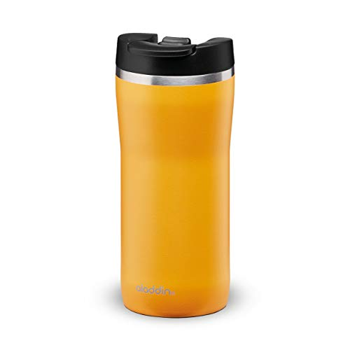 Aladdin Barista Mocca Thermobecher, Rostfreier Stahl, Sun Yellow, 0.35 L