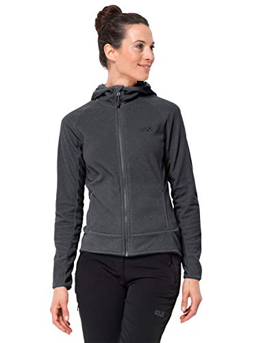 Jack Wolfskin Damen ARCO Jacket Women Warme Fleecejacke, Ebony Stripes, XXL