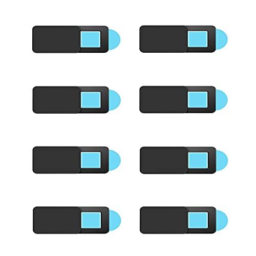 JeoPoom Webcam Abdeckung[8 Stück], Slide Kameraabdeckung Schutz Ihrer Privatsphäre Online, Kamera Cover Folie Superdünn für MacBook Pro, Laptop, Smartphone, Tablet, iPad