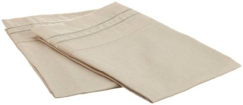 Clara Clark Supreme 1500 Collection Pillowcase Set - Standard Size, Beige Cream