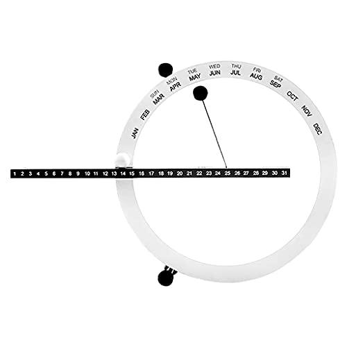 GANFANREN INS Nordic Style Creative Moda Tiempo Perpetual Table Calendario Escritorio Manual DE LA Decoración del Hogar Cumpleaños (Color : White)