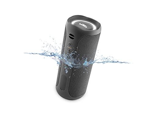 Altavoz Upper 3 de Vieta Pro, con Bluetooth, True Wireless, Micrófono, Radio FM, 10 Horas de autonomía, Resistencia al Agua IPX7, Entrada Auxiliar y sistema de luces; Color Negro.