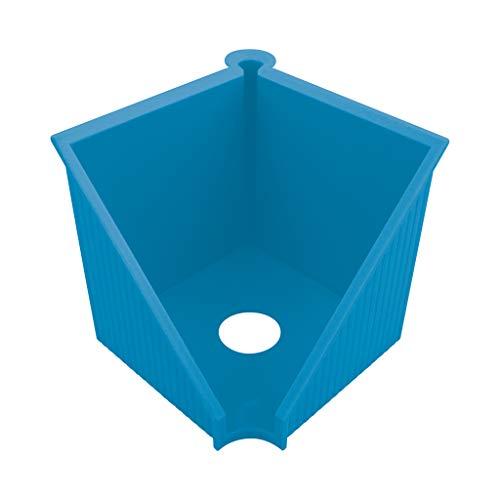 herlitz 50033454 Zettelkasten 10 x 10 cm, Serie: GREENline, intensiv blau, 1 Stück