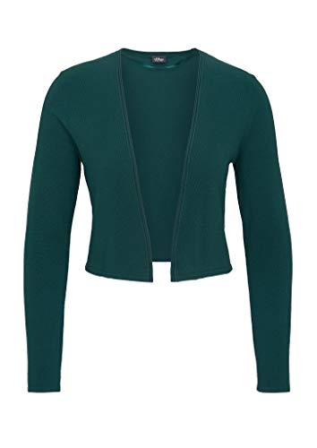 s.Oliver BLACK LABEL Damen Cleaner Feinstrick-Cardigan Dark Green 44